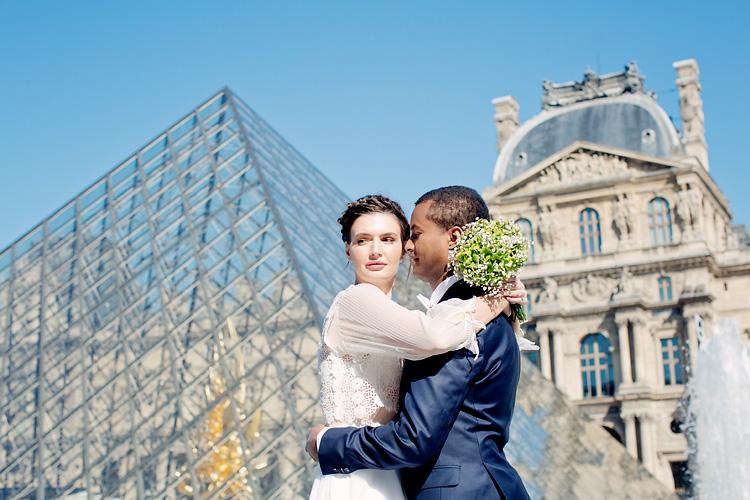 Carousel du Louvren med bröllop