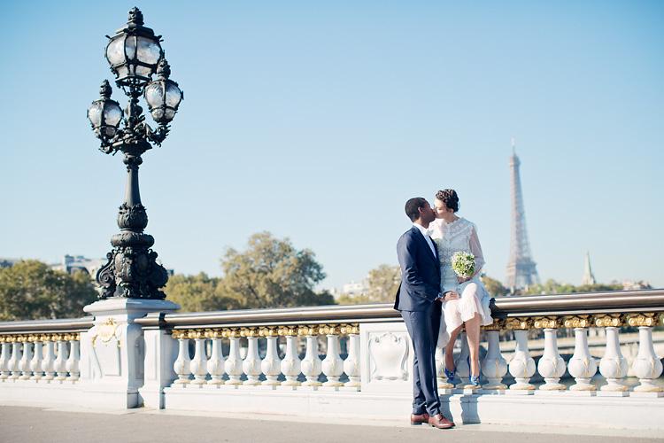 Paris bröllop Pont Alexandre III