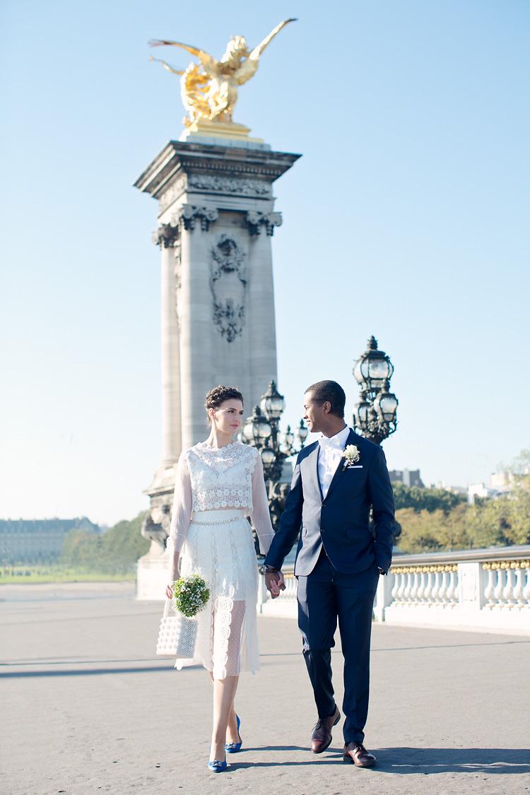 Pont Alexandre III brudpar Paris